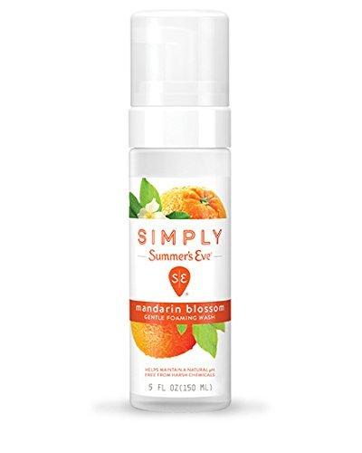 Summer's Eve Simply Gentle Foaming Wash, Mandarin Blossom, 5 fl oz (Pack of 2) - Mandarin Blossom