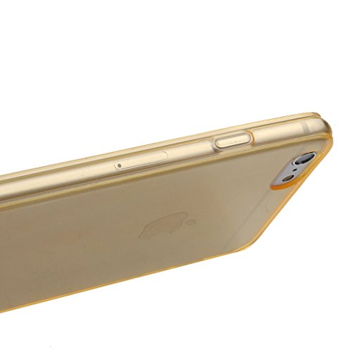 Kupx High Clear Pure Color Case For Iphone6 Plus 5.5Inch Color Gold