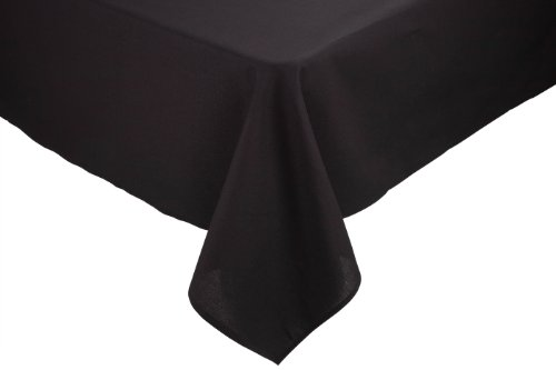 RIEGEL Permalux Cottonblend 54-Inch by 96-Inch Tablecloth, Black