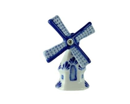 Essence of Europe Gifts 3-D Delft Windmill Kitchen Magnet with Turning (Delft Windmill)