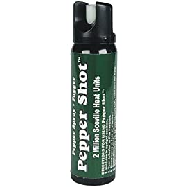 Pepper Shot 4oz Pepper Spray Fogger with Leatherette Holster 9 AGE: 21+ Due to State Laws we DO NOT ship this item to CT HA IL MA MI NJ NY RI or WI Please do not ship to one of these states