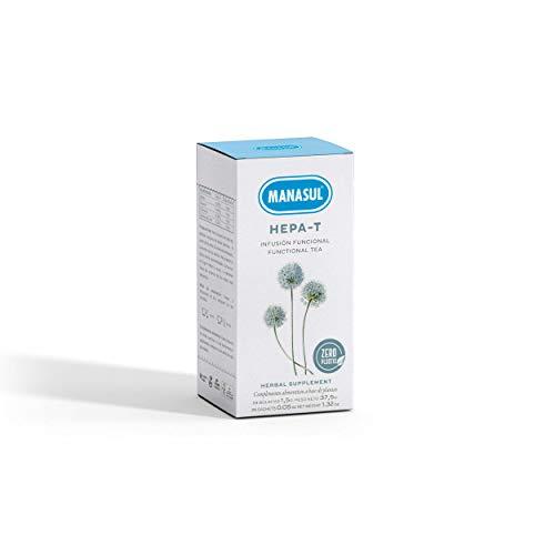 MANASUL - Infusion De Boldo y Romero con Curcuma Te Digestivo Protector Del Higado Hepa-T Caja de 25 Bolsitas