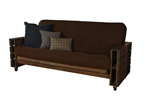 Cordova Futons Stratton Pallet Rustic Walnut Futon - Frame and Mattress Set - 8
