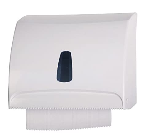 Mar Plast Dispensador Dispensador Papel Toallas Blanco a Pared Combi para Hojas o Rollo (