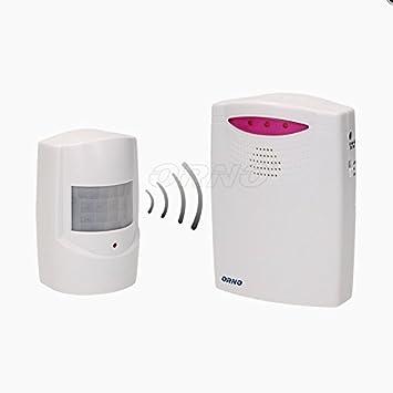 Detector de movimiento inalámbrico con timbre para entrada, 120 metros (timbre + sensor de movimiento): Amazon.es: Bricolaje y herramientas