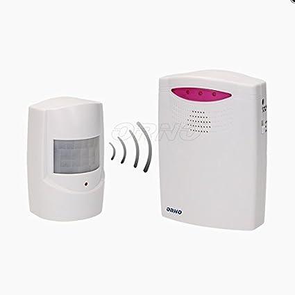 Detector de movimiento inalámbrico con timbre para entrada, 120 metros (timbre + sensor de