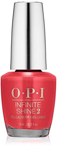 OPI Infinite Shine, Color So Hot It Berns, 0.5 fl. oz.