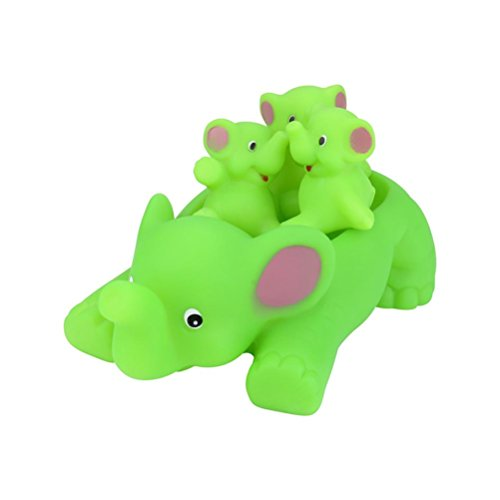 Gbell Baby Bath Toys - Cute Pig Elephant Family - Soft Rubber Float Squeeze Dabbling Bath Toys for Toddlers Baby Boys Girls 1-6 Years Old (Random)