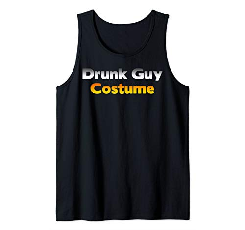 Funny Ugly Low Budget Drunk Guy Halloween Costume Joke Gift Tank Top