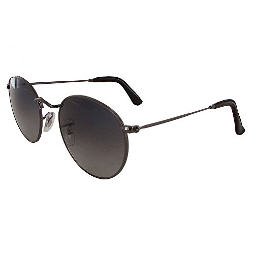 Ray Ban Mens RB3447 Polarized Metal Frame Sunglasses, Gunmetal - Metal Round Rb3447 50