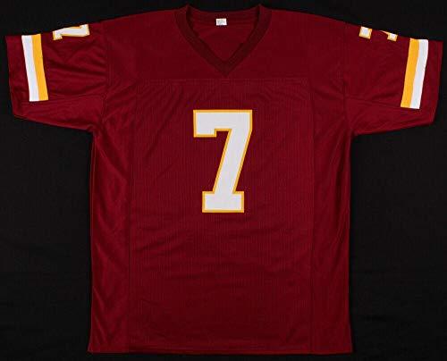 Signed Joe Theismann Jersey - PRO STYLE w INSC. & BECKETT COA - Beckett Authentication - Autographed NFL Jerseys (Theismann Jersey)