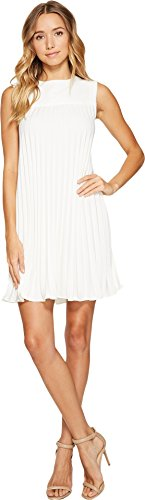 Silk Dress Nicole Miller (Nicole Miller Women's Silk Pleated Party Dress White Dress)