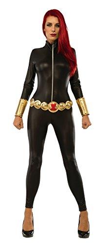 Black Widow Womens Jumpsuit Adult Marvel Avengers Captain America Civil War Costume Costume (XS) - Avengers Black Widow Costume Xs