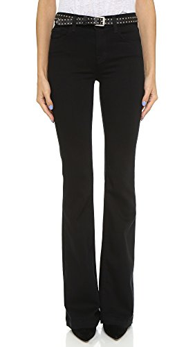 J Brand Women's Maria High Rise Flare Jeans, Seriously Black, 23
