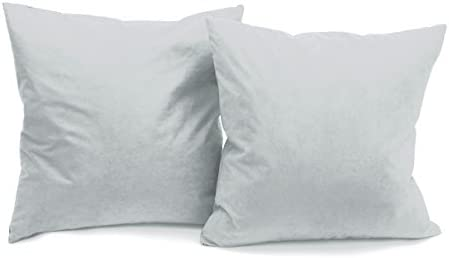Deluxe Comfort Microsuede Throw Pillows, 16 by 16 , Grey