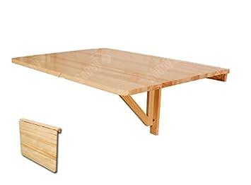 Sobuy Fwt01 N Table Murale Rabattable En Bois 75 60cm Table De Cuisine Pliante Couleur Claire Naturel