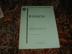 Rossini. Sonata No.5, In E Flat Major for String Quartet. Kalmus Score