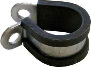 BargainBitz 10 X 13Mm (1/2') Rubber Lined Steel P Clip Clips Hose Pipe Clamps Cable Wire Pc13