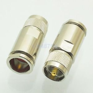 UHF Male PL259 Plug Clamp RG8 RG165 RG213 RFC400 RF Coax cable connector adapter