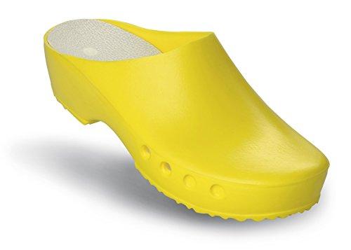 mit OP Schuhe Classic Chiroclogs Fersenriemen Gelb Schürr und ohne CnqPUP