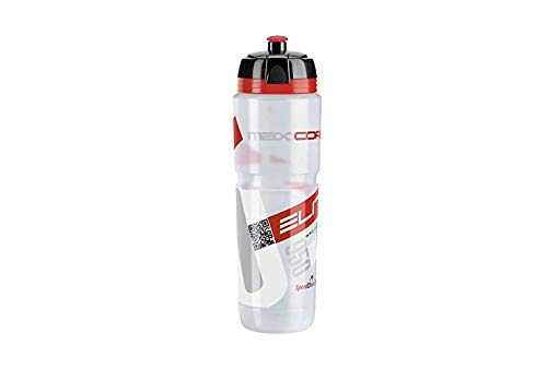 Elite 0102006 Maxi Corsa MTB Water Bottle, Clear/Red