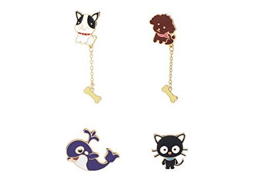 GYAYU Cute Cartoon Brooch Pins Enamel Brooches Lapel Pins Badge for Women Girls Children for Clothing Bag Decor - Bags Cartoon Flat