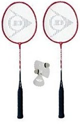 2 x Dunlop NanoMax Pro Badminton Rackets + 3 Shuttles