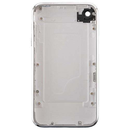 Door with Chrome Bezel for Apple iPhone 3G (White) with Glue ()