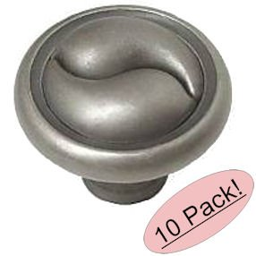 Amerock BP19255-WN Ying-Yang Weathered Nickel Cabinet Hardware Knob Solid Brass Construction - 1-1/4