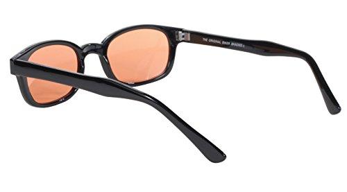 gafas auténticas Negro 20112 Orange sol Lens de bikers marco amarillo KD's FFwrdq