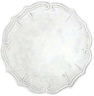 Vietri INC-1120C Incanto Baroque Service Plate/Charger, White
