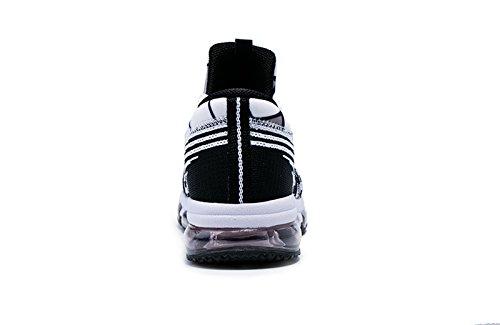 onemix - Zapatillas de running para hombre blanco y negro