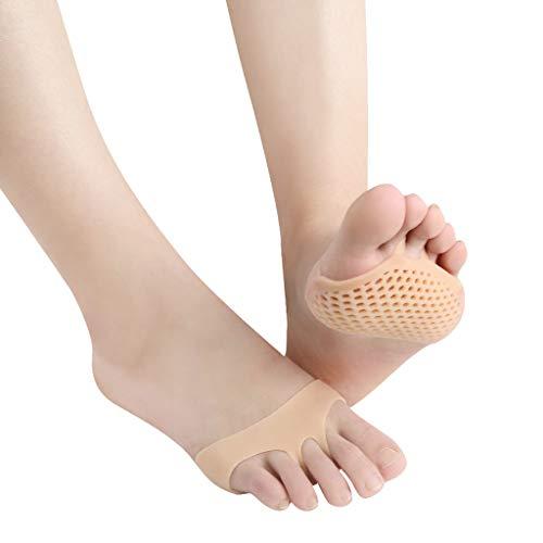 ❤️Jonerytime❤️Breathable Metatarsal Pads Ball of Foot Pain Relief Cushions Metatarsal Pads 6 Pairs (Beige)