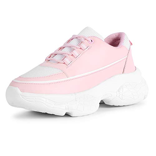 Vendoz Women and Girls Latest Collection White Casual Shoes Sports Shoe Sneaker