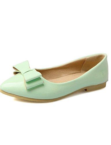 uk3 rosa Casual de eu36 PDX plano talón Beige mujeres 5 us5 señaló Flats Toe pink cn35 5 verde las zapatos Pq5wznqT
