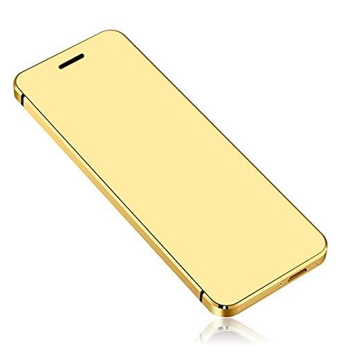 - BEESCLOVER MP3 MP4 V36 Smart Phone Ultrathin Credit Card Cellphone Metal Body Wire-Less Dialer FM Dual SIM Card Mini Mobilephone A3 Gold