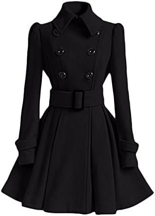 KYH Cappotto di Lana Cappotto Giacca Maglione di Lana Donna Cappotto Sportswear