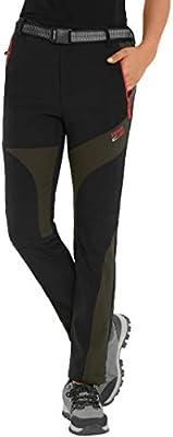 Haines Pantalones De Montana Mujer Invierno Pantalon Softshell Impermeable Pantalon Da Senderismo Y Trekking Negro Amazon Es Deportes Y Aire Libre