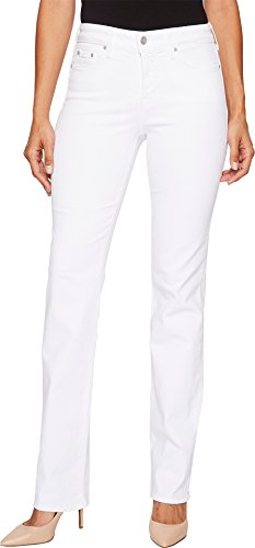 NYDJ Women's Marilyn Straight Leg Jeans, Optic White, 16 by NYDJ