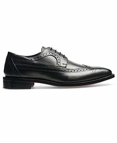 Anthony Veer Men's Regan Oxford Wingtip Leather Shoes In Goodyear Welted Construction (14 D(M) US, Black) by Anthony Veer (Image #1)