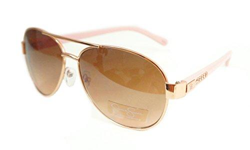 Jessica Simpson Metal Aviator Gold/Pink/Brown J5505 -RGDRS Womans Sunglasses