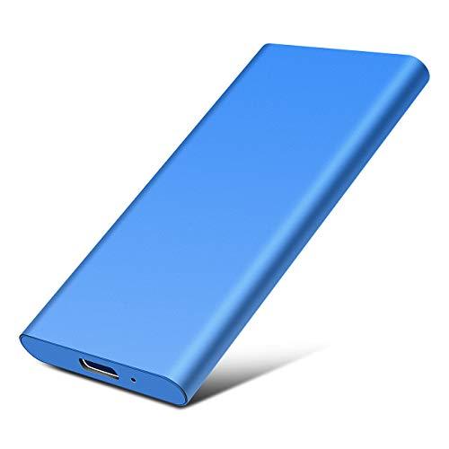 External Hard Drive, Portable 1TB 2TB Hard Drive External USB3.0 Slim Hard Drive for Mac,PC and Laptop (2TB, Blue)