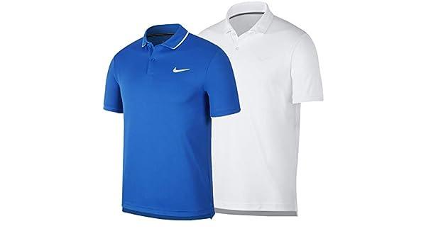 Nike NikeCourt Dri-FIT Polo de Tenis, Hombre, Blanco White/Black ...