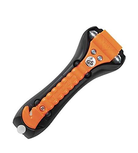 Gurtschneider von MBS-FIRE/® Halter Nothammer original LifeHammer CLASSIC GLOW-O Inkl