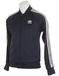 Black adidas jacket with yellow stripes