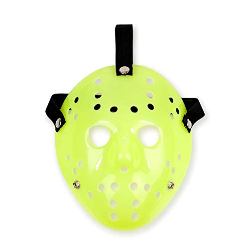 Jason Hockey Mask | Glow-In-The-Dark Friday The 13th Mask worn by Jason Voorhees | Perfect Costume for Adults