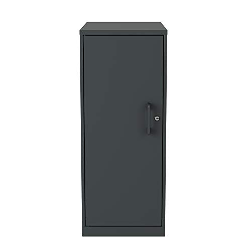 Office Dimensions 22542 3 Shelf Personal Storage Cabinet, Locking, Charcoal