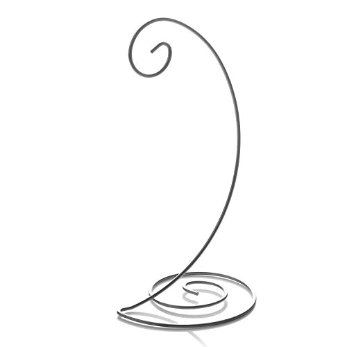 Wendell August Spiral Bottom Ornament Stand, Silver