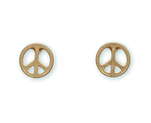 (Stud Buds Gold Peace Sign Nickel Free Earrings from Howard's Inc )