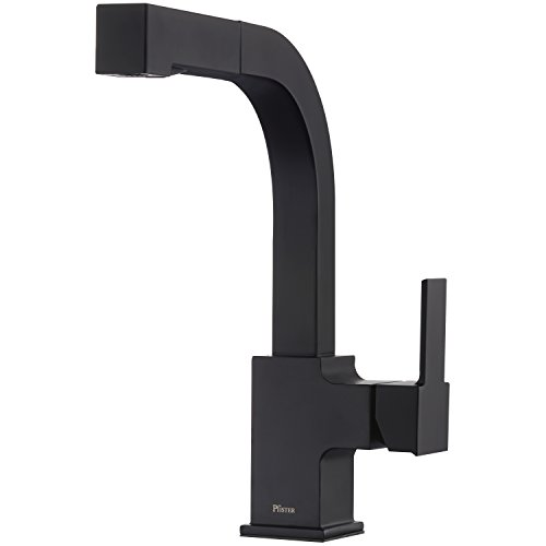 Pfister LG534-LPMB Arkitek Kitchen Faucet With Pull-Out Sprayhead, Matte Black Black Pull Out Kitchen Faucet